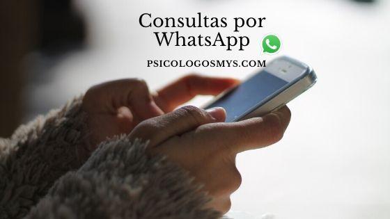 consulta por Whatsapp Psicólogo online
